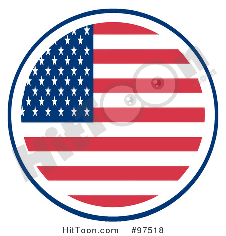 Round us flag clipart black and white American Flag Clipart #97520: Fourth of July American Flag with ... black and white