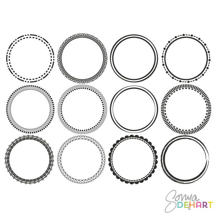 Round vector clipart clipart free stock Vector Clip Art Round Circle Frames clipart free stock