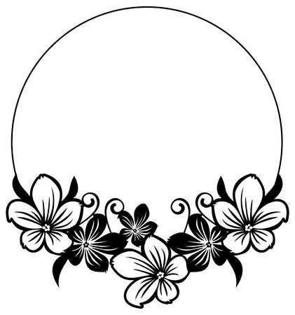 Round vector clipart clip black and white download Stock Vector | *strangelings | Flower silhouette, Abstract ... clip black and white download