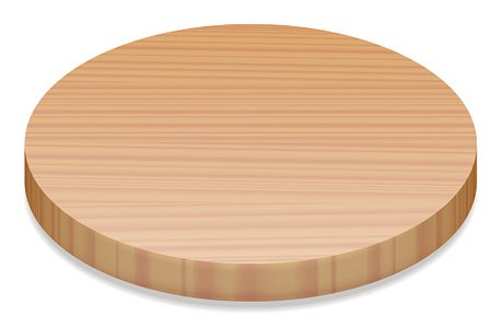 Round wood clipart picture black and white Round Wooden Board premium clipart - ClipartLogo.com picture black and white