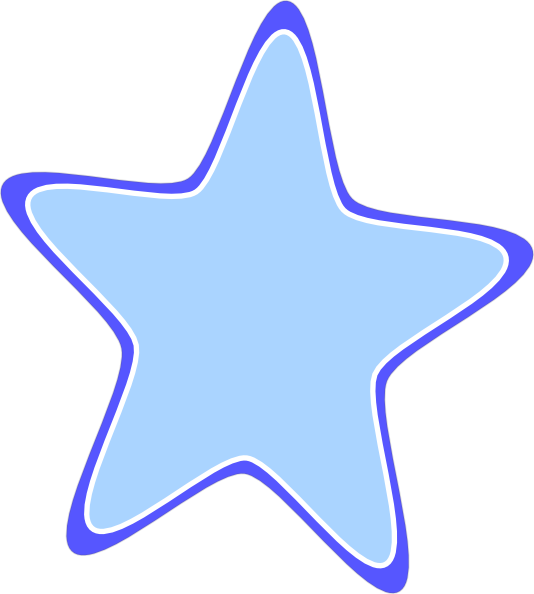 Rounded Star Clip Art at Clker.com - vector clip art online, royalty ... clip black and white stock
