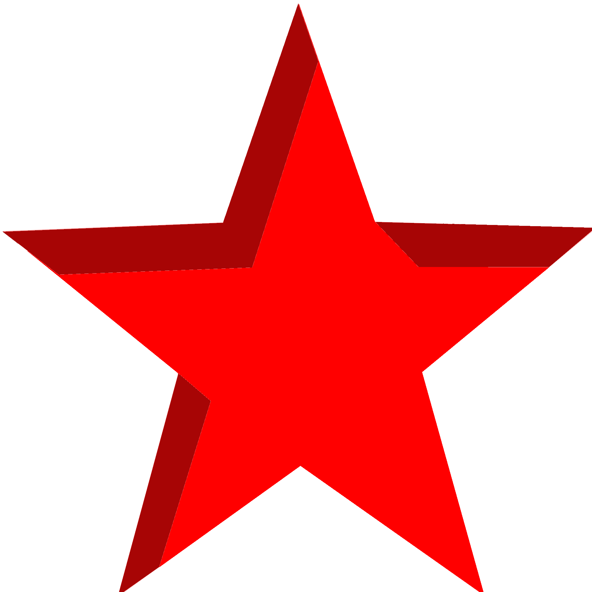 Simple Red Star Png With Alpha banner download
