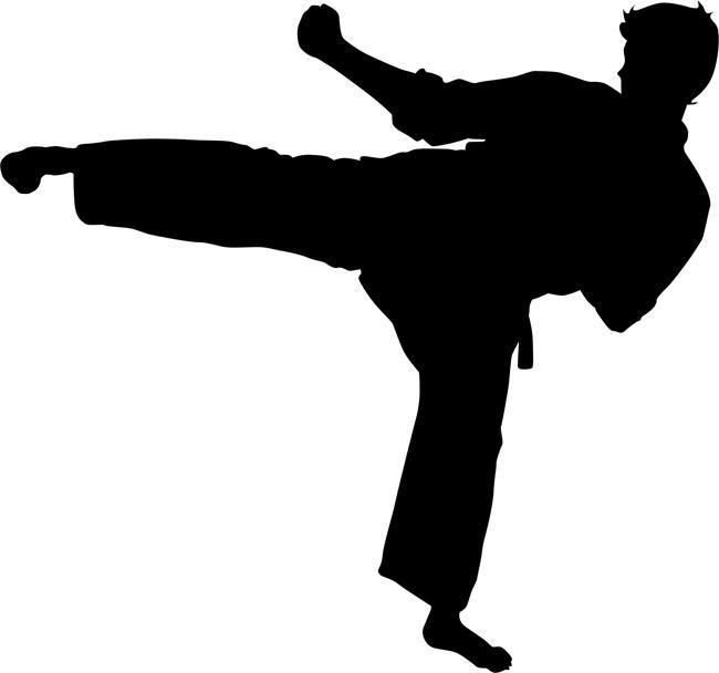 Roundhouse kick clipart image Reverse Roundhouse Kick Karate Stencil | sunrise 2018 ... image