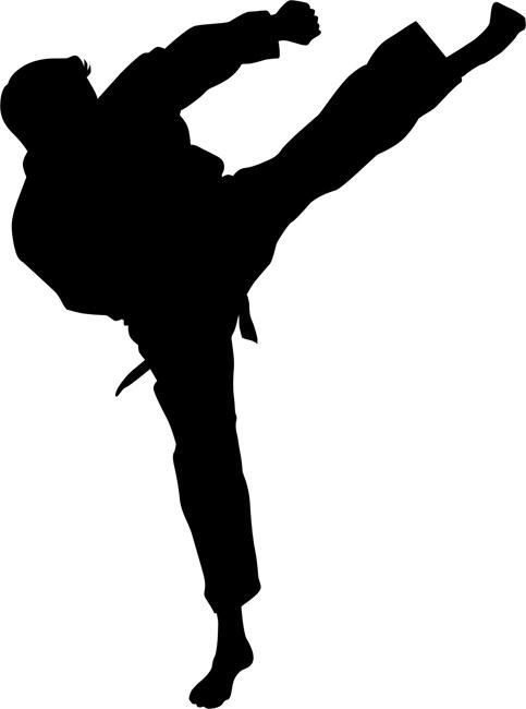 Roundhouse kick clipart clip transparent Roundhouse Kick Karate Stencil | Products | Karate ... clip transparent