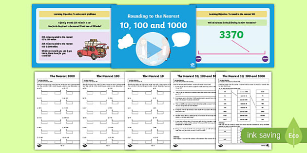 Rounding to the nearest ten and hundred clipart jpg library stock Rounding to the Nearest 10 100 1000 - Year 4 Teaching Pack jpg library stock