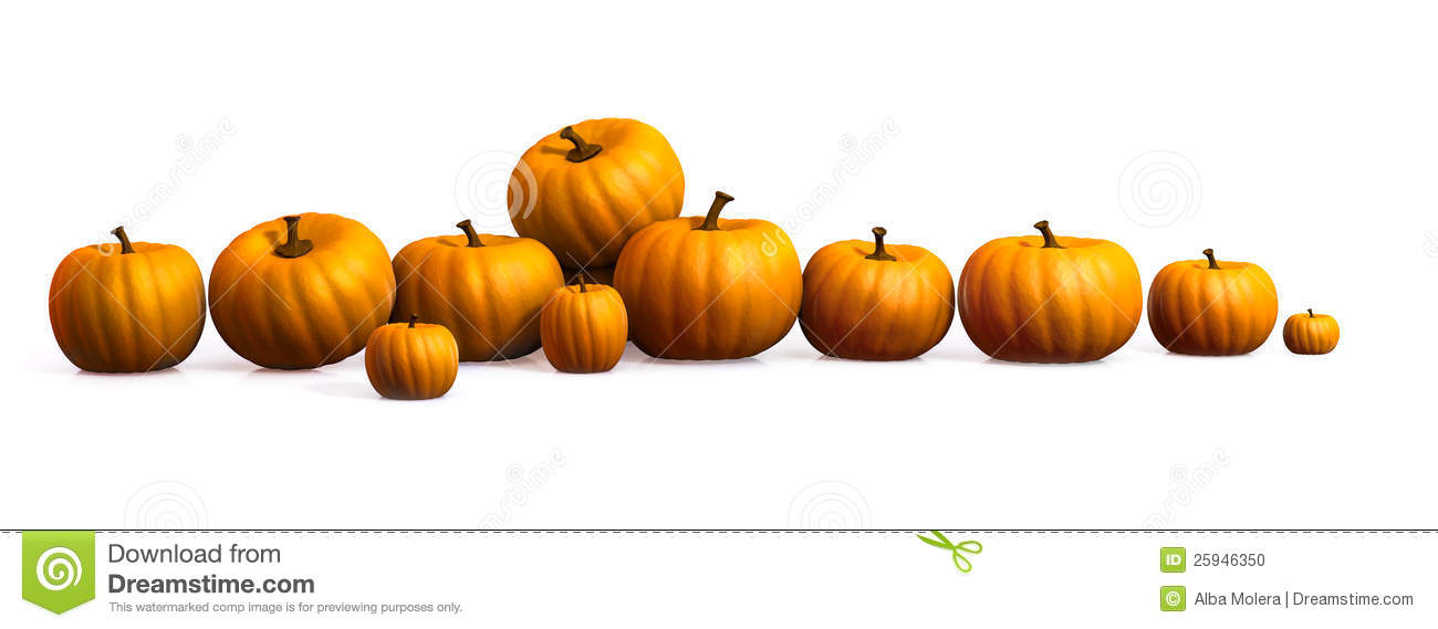 Row 1 clipart graphic transparent download Row Of Pumpkins Clipart graphic transparent download