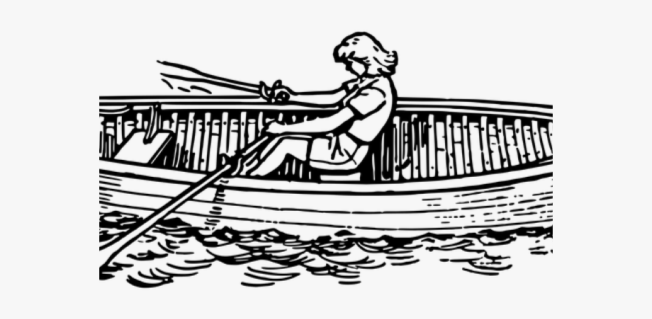 Row boat clipart black and white graphic royalty free library Row Boat Clipart - Boat Oars Black And White #363704 - Free ... graphic royalty free library
