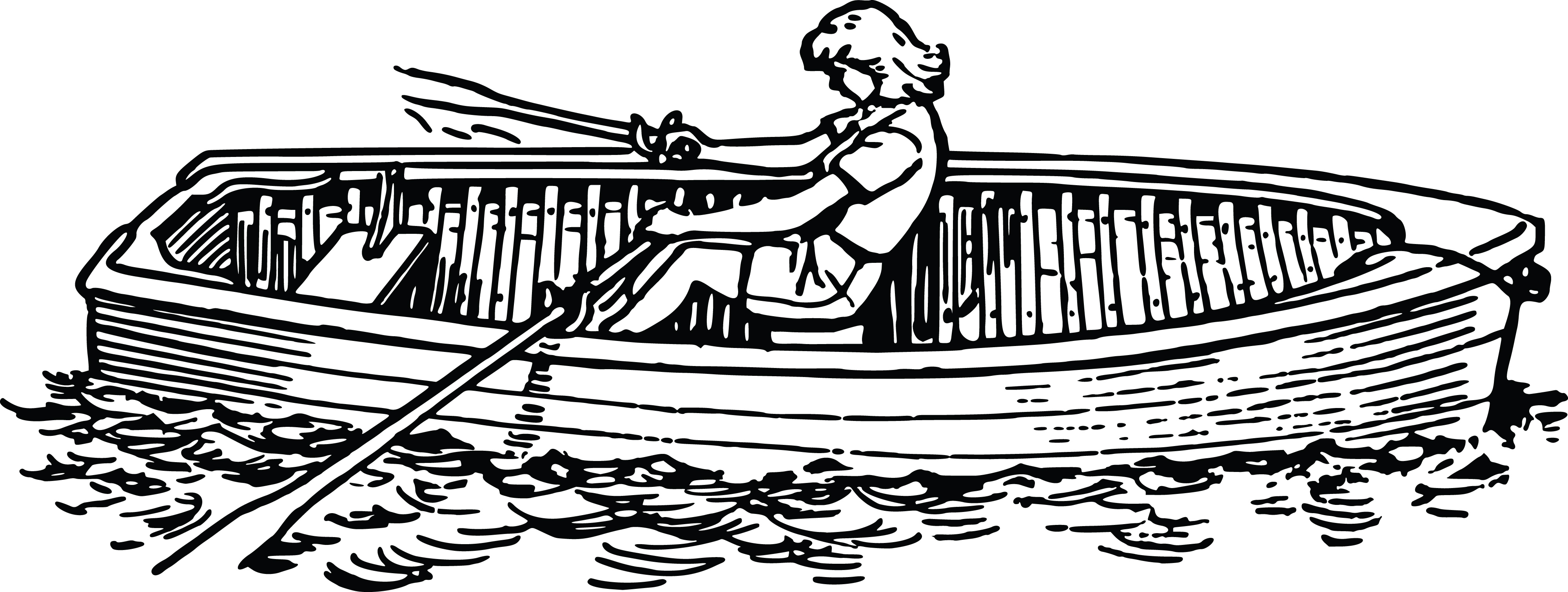 Row boat clipart black and white vector freeuse stock Row Boat Clipart Black And White (72+ images in Collection ... vector freeuse stock