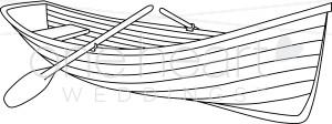 Row boat clipart black and white clip transparent stock Black and White Row Boat Clipart | Nautical Wedding Clipart clip transparent stock
