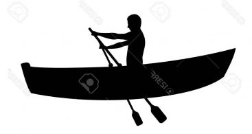 Row boat silhouette clipart png stock Row Boat Vector Sillohettes Archives - Free Vector Art ... png stock
