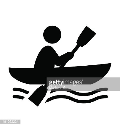 Row boat silhouette clipart clipart royalty free Summer Water Sport Pictogram Row ON Boat Flat People Icon ... clipart royalty free