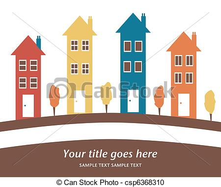 Row house clipart clip black and white library Row house Clipart and Stock Illustrations. 2,940 Row house vector ... clip black and white library