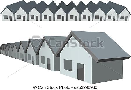 Row house clipart graphic freeuse download Row houses Vector Clipart Illustrations. 1,203 Row houses clip art ... graphic freeuse download