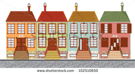 Row house clipart picture library library House Row House Facade Stock Photos, Royalty-Free Images & Vectors ... picture library library