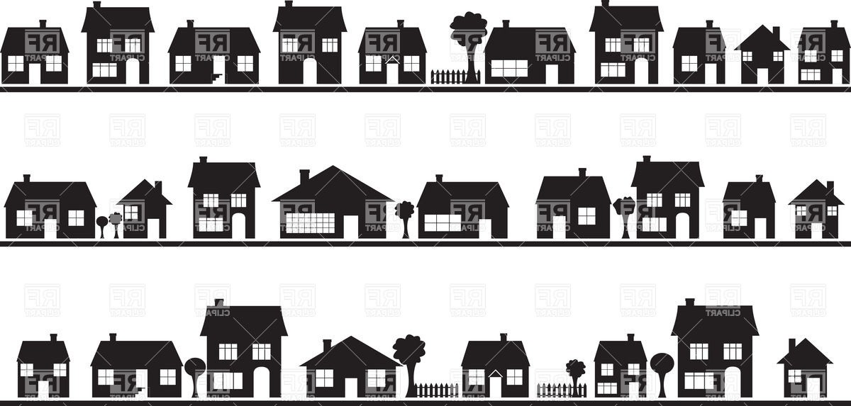 Row house clipart clip art download Row house black and white clipart - ClipartFest clip art download