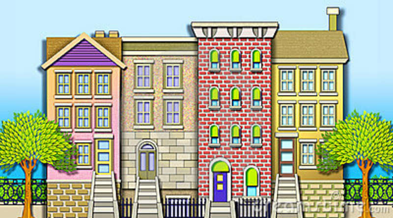 Row house clipart png free download Row Of Houses Clipart - Clipart Kid png free download