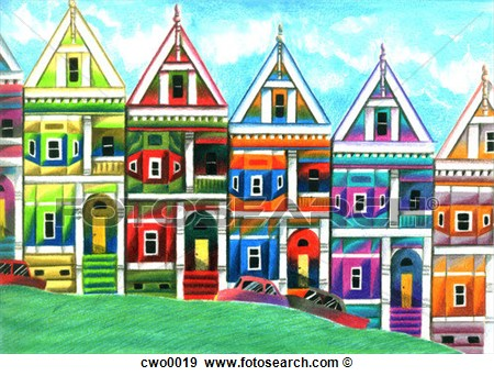 Row houses clipart vector transparent stock San Francisco Row Houses Fotosearch Search Vector Clipart #13njqi ... vector transparent stock