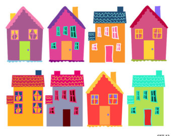 Row houses clipart svg freeuse download Row Of Houses Clipart - Clipart Kid svg freeuse download
