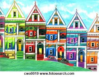 Row houses clipart jpg freeuse library Row Of Houses Clipart - Clipart Kid jpg freeuse library