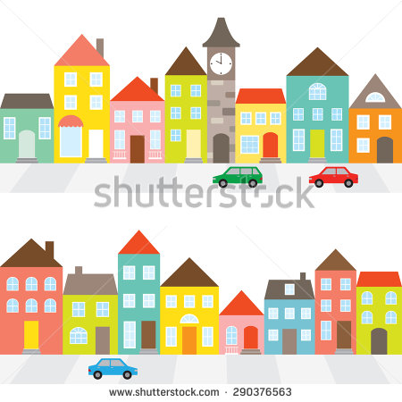 Row houses clipart clip library download Terraced house clipart - ClipartFest clip library download