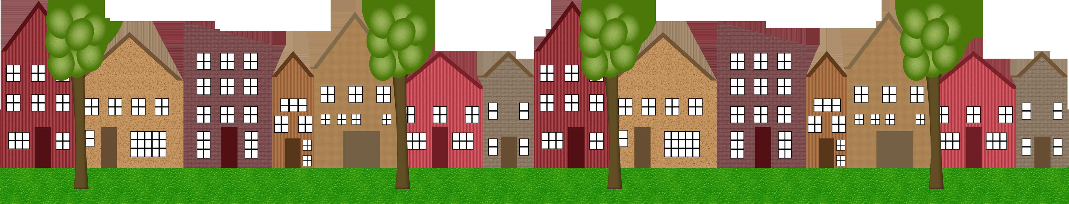 Row houses clipart clip art free stock Clip Art Of Homes In A Row Clipart - Clipart Kid clip art free stock