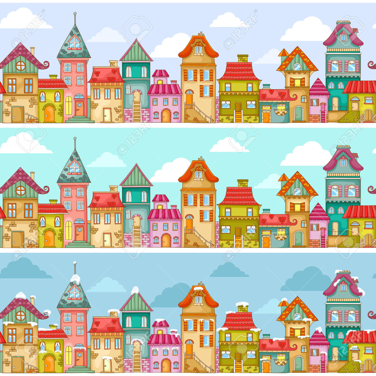 Row houses clipart vector royalty free 4,181 Row House Stock Illustrations, Cliparts And Royalty Free Row ... vector royalty free