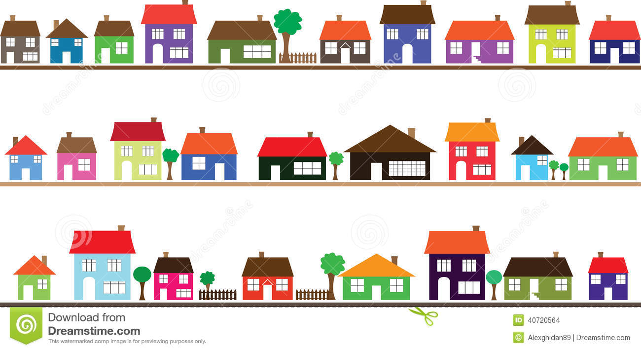 Row houses clipart banner royalty free download Clip art neighborhood homes - ClipartFest banner royalty free download