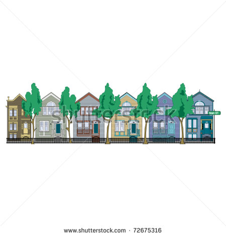 Row houses clipart jpg transparent download Row Of Houses Clipart Row House Clip Art #cH4KFK - Clipart Kid jpg transparent download