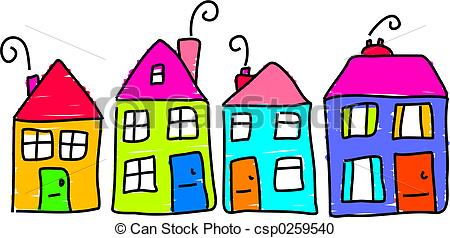Row houses clipart vector download Row house clipart - ClipartFest vector download