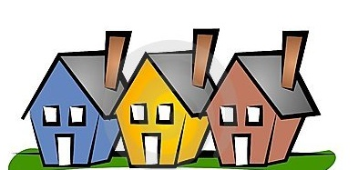 Row houses clipart free Row house clipart - ClipartFest free