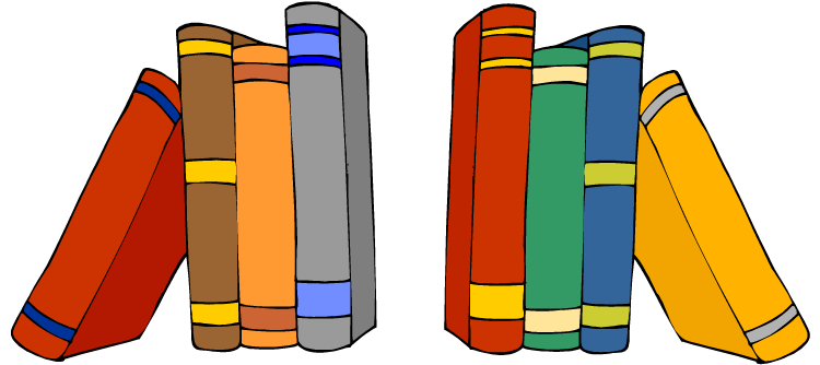 Row of books clipart picture free Free Library Books Clipart Image - 9026, Library Books Clipart ... picture free