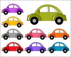 Row of cars clipart clipart free library Cute Car Clipart / Colorful Car Clip Art / Car Baby Shower / Car ... clipart free library
