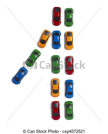 Row of cars clipart jpg stock Stock Photography of toy cars traffic transportation - toy cars in ... jpg stock