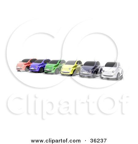 Row of cars clipart