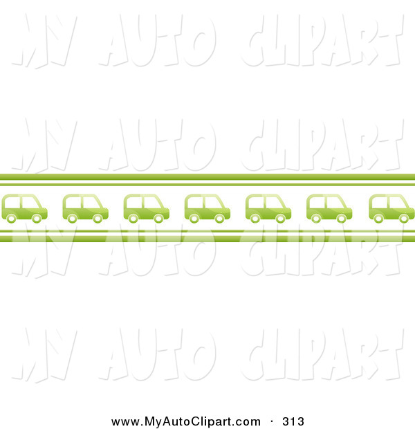 Row of cars clipart clip stock Clip Art of a Row of Many Green Cars Driving in a Line, with Green ... clip stock