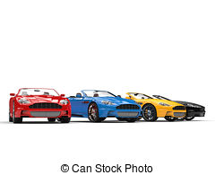 Row of cars clipart png black and white Drawings of Row of awesome vintage cars - top view csp35455232 ... png black and white