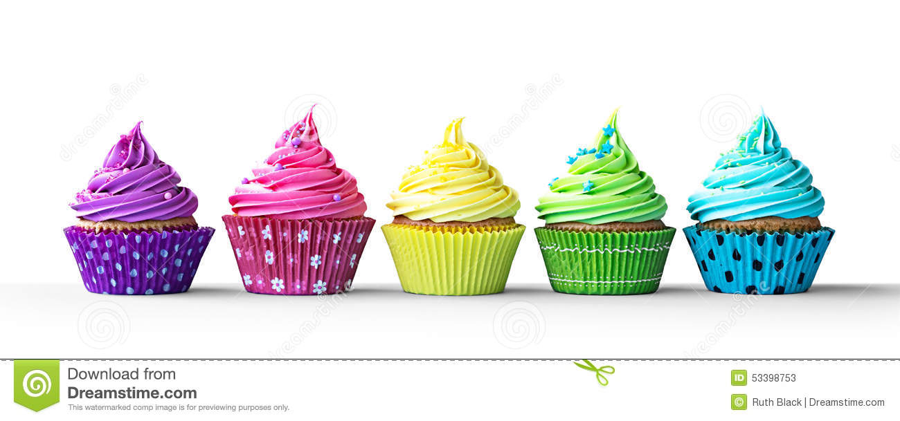 Row of cupcakes clipart