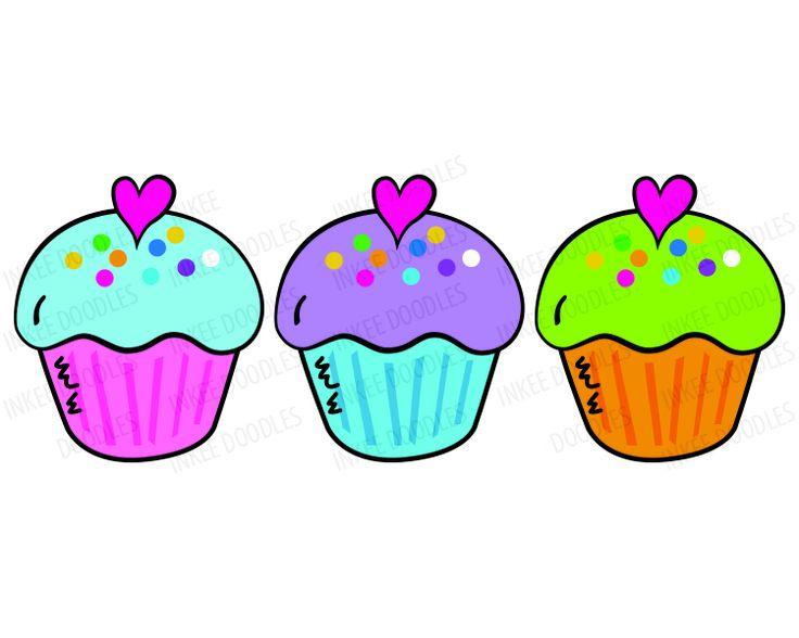 Row of cupcakes clipart clip stock Image of Birthday Cupcake Clipart #4709, Cupcake Clip Art Digital ... clip stock
