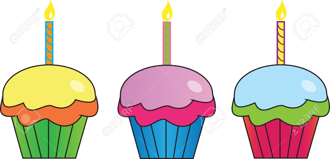Row of cupcakes clipart banner library library Row of cupcakes clipart - ClipartFest banner library library