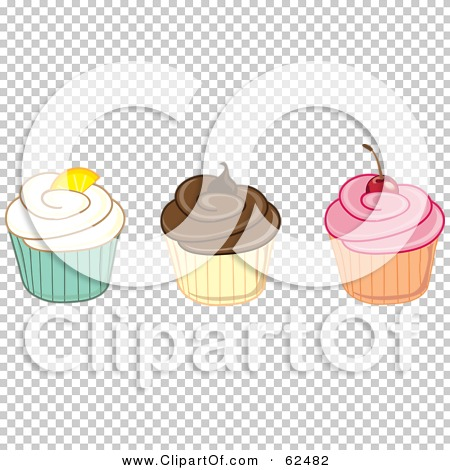 Row of cupcakes clipart clipart download Royalty-Free (RF) Clipart Illustration of a Row Of Vanilla ... clipart download