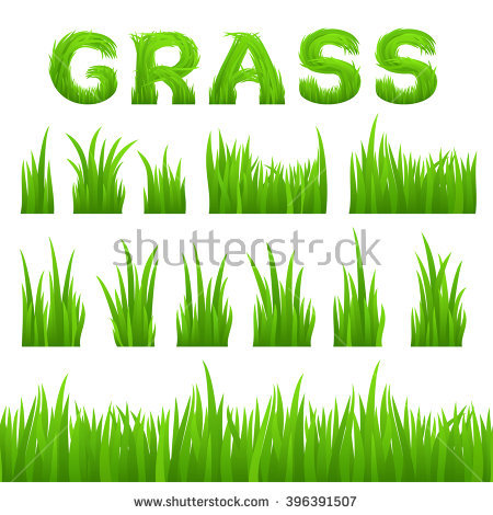 Row of grass clipart graphic royalty free download Grass Texture Design Elements Set Isolated On White Background ... graphic royalty free download