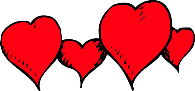 Row of hearts clip art graphic Hearts In A Row Clipart | Clipart Panda - Free Clipart Images graphic