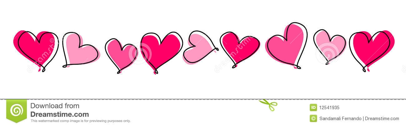 Row of hearts clip art banner free download Clipart row of hearts - ClipartFest banner free download