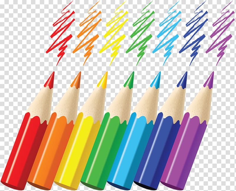 Row of paint brushes different colors transparent background clipart stock Colored pencil Watercolor painting, pencil transparent ... stock