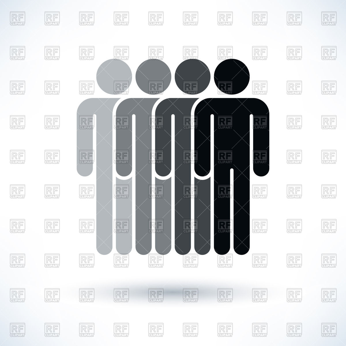 Row of people clipart clipart library stock Row of people - team pictogram Vector Image #48761 – RFclipart clipart library stock