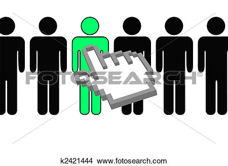 Row of people clipart clipart transparent stock Clipart of hand pixel cursor selects person from row of people ... clipart transparent stock