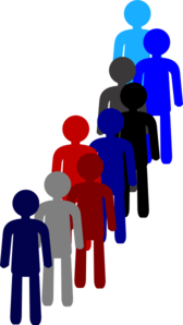 Row of people clipart image freeuse library People line clipart - ClipartFest image freeuse library