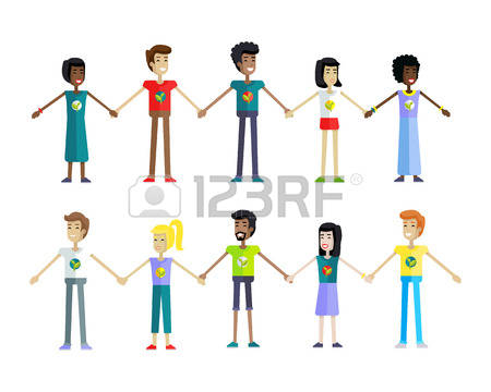 Row of people clipart vector freeuse 16,078 Row Of People Stock Illustrations, Cliparts And Royalty ... vector freeuse