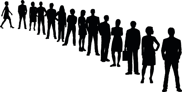 Row of people clipart picture transparent stock People lining up clipart in a line - ClipartFest picture transparent stock
