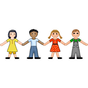 Row of people clipart svg library People clip art of children including a row of girls and boy ... svg library
